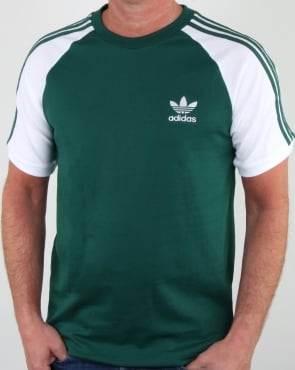 Adidas Originals 3 Stripes T Shirt DP Green/White