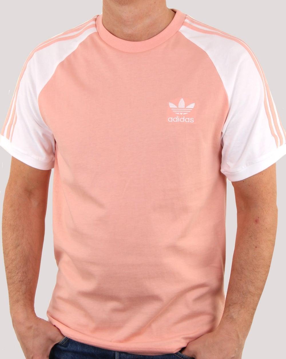 Shirt Tee Originals Stripe Adidas Mens Dust T crew 3 Stripes Pink xHnwq6I