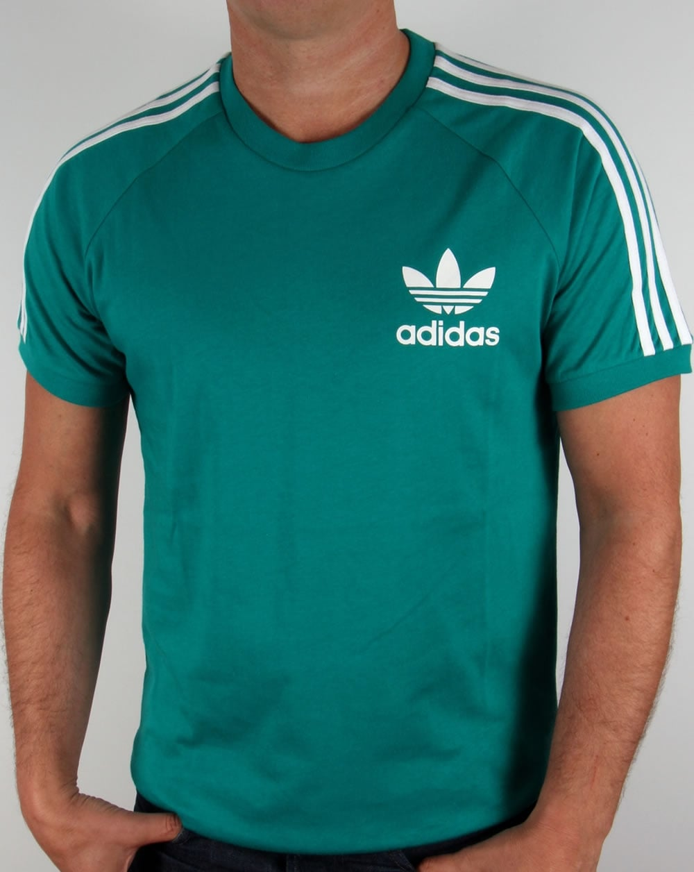 adidas originals trefoil 3 stripes t shirt eqt green retro. Black Bedroom Furniture Sets. Home Design Ideas
