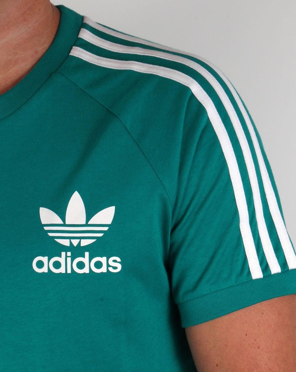 adidas originals trefoil 3 stripes tshirt eqt greenretro