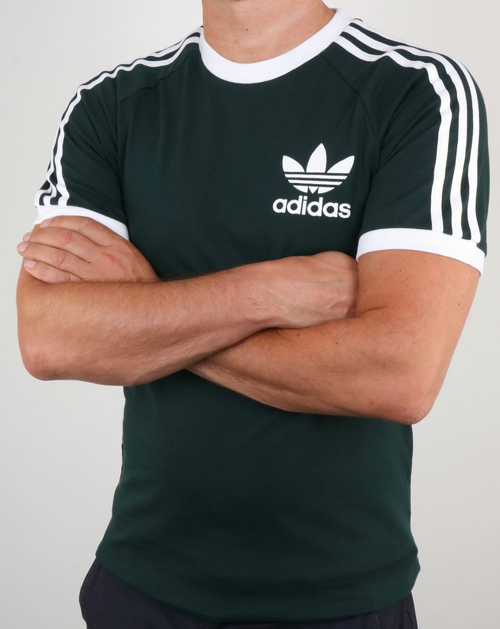 pretty cheap buying cheap new products Adidas Originals 3 Stripes T Shirt Green Night