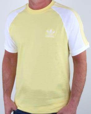 Adidas Originals 3 Stripes T Shirt Intense Lemon
