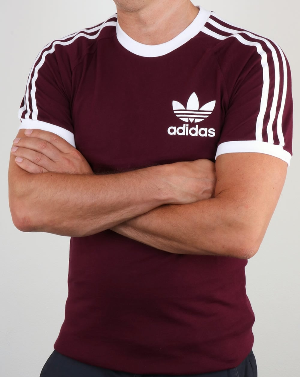adidas originals adi 3 stripe trefoil t shirt