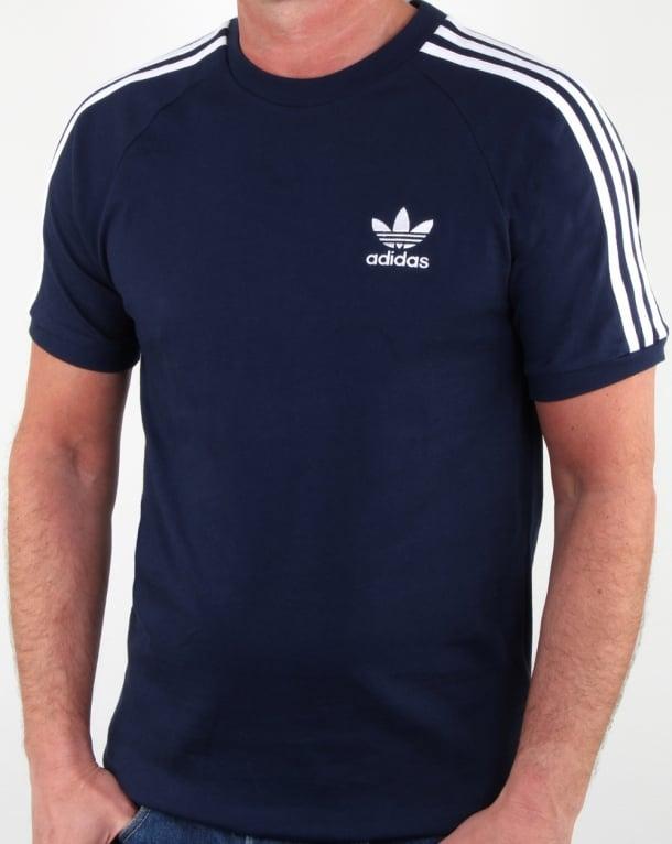 Adidas Originals 3 Stripes T Shirt Navy