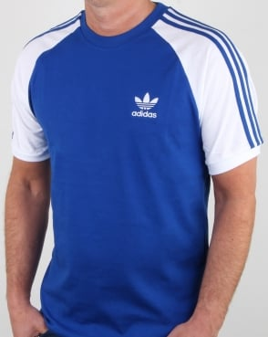 adidas retro 3 stripes t shirt in gold