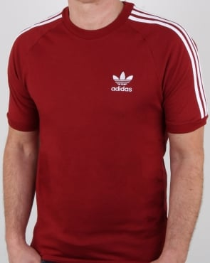 Adidas Originals 3 Stripes T Shirt Rust Red