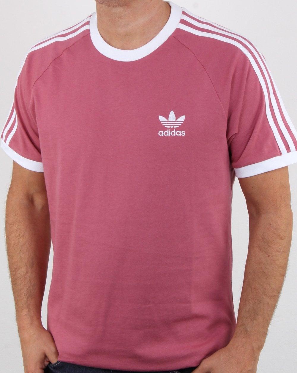 c1faa2cacb Adidas Originals 3 Stripes T Shirt Soft Maroon | 80s casual classics