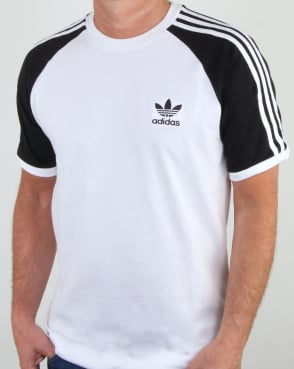 Adidas Originals 3 Stripes T Shirt White/black ...