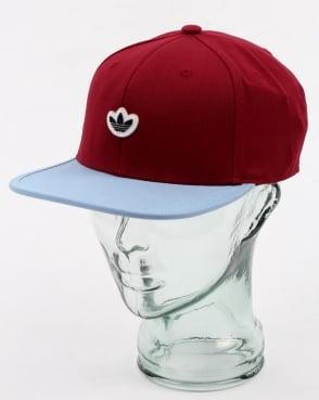 Adidas Originals 6 Panel Unstructured Cap Burgundy/ash Blue