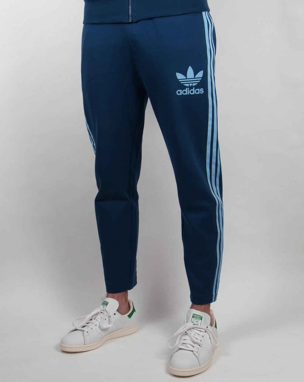 adidas originals 7 8 length track pants blue clear blue. Black Bedroom Furniture Sets. Home Design Ideas