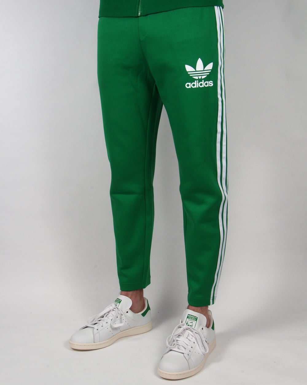 adidas originals 7 8 length track pants green white. Black Bedroom Furniture Sets. Home Design Ideas