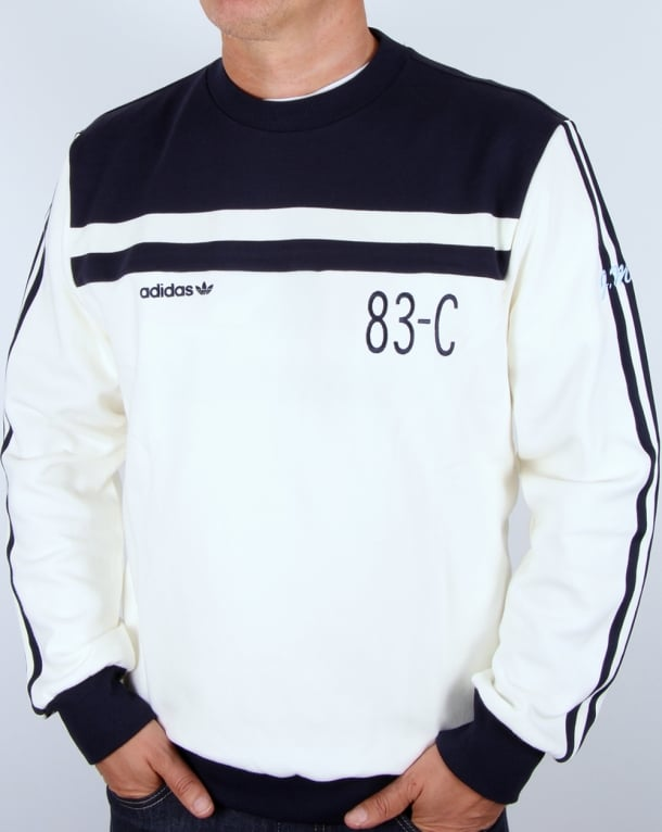 Sweatshirt Whitenavy Off Adidas 83 Originals C nwvNO0my8