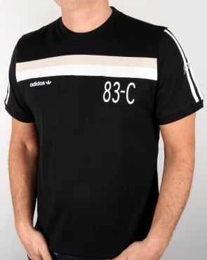 Adidas Originals 83-c T Shirt Black