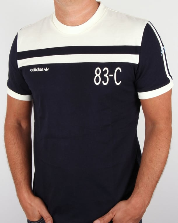 Adidas Originals 83-C T-shirt Navy/Off White