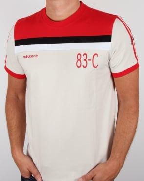 Adidas Originals 83-C T-shirt Talc/Red