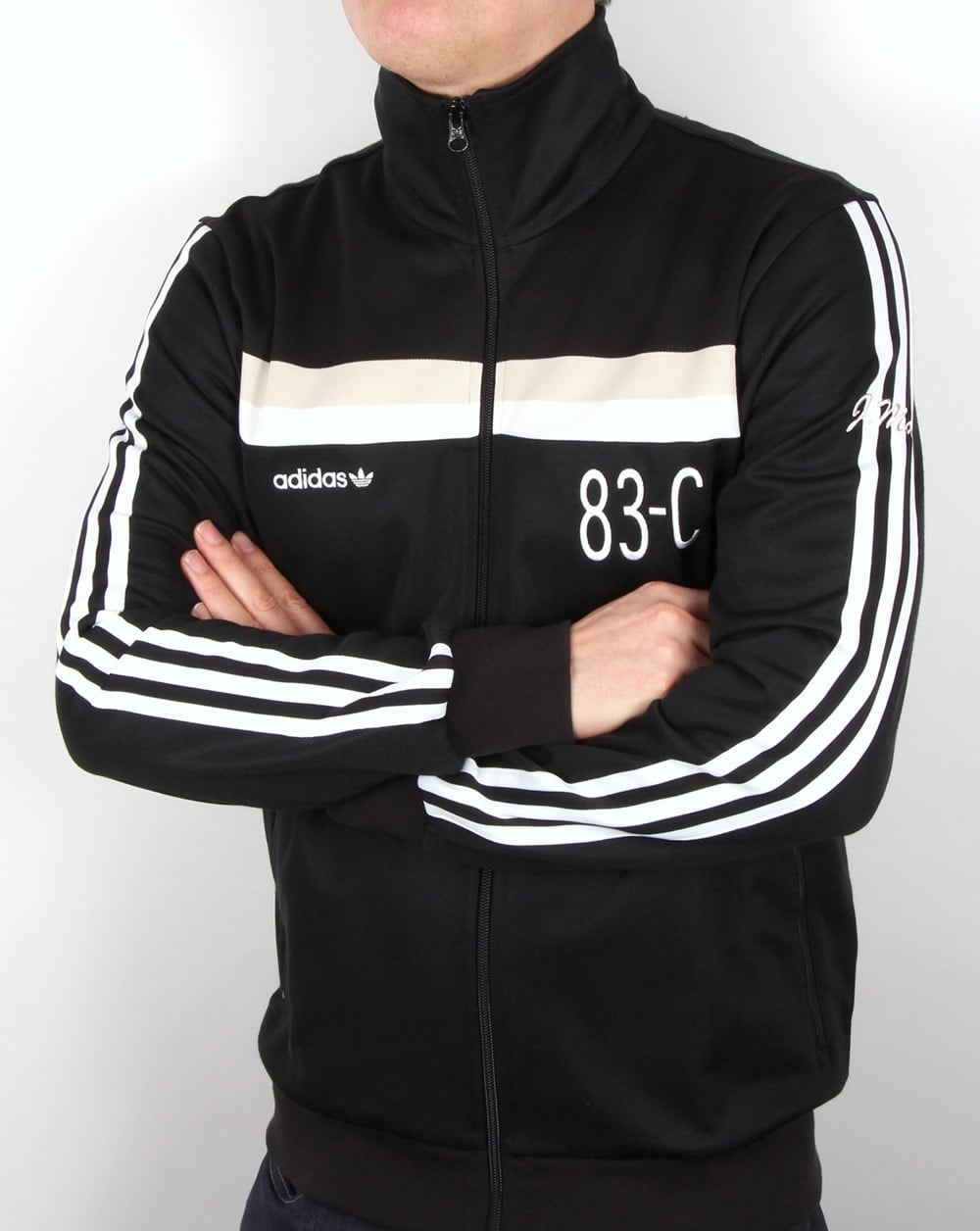 Adidas Originals 83 C Track Top Black Tracksuit Jacket Mens