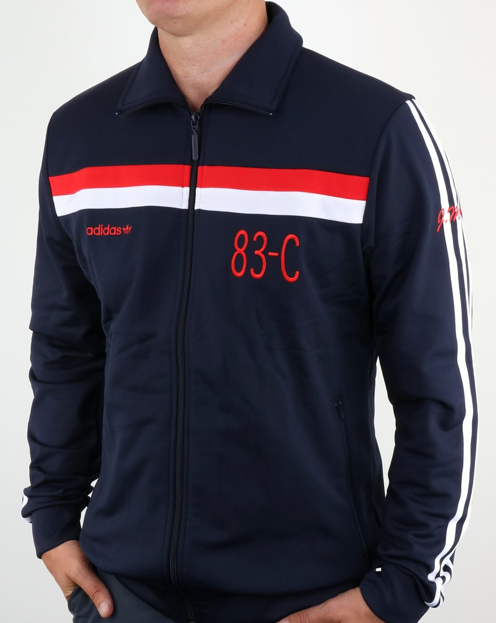 adidas originals 83 c track top legend ink tracksuit. Black Bedroom Furniture Sets. Home Design Ideas