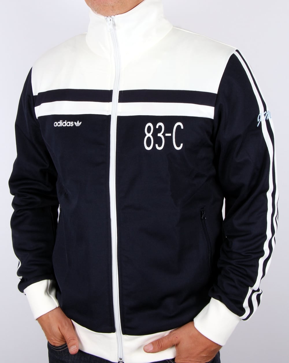 Adidas Originals 83 C Track Top Navy Off White Tracksuit