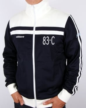 Adidas Originals 83-c Track Top Navy/off White