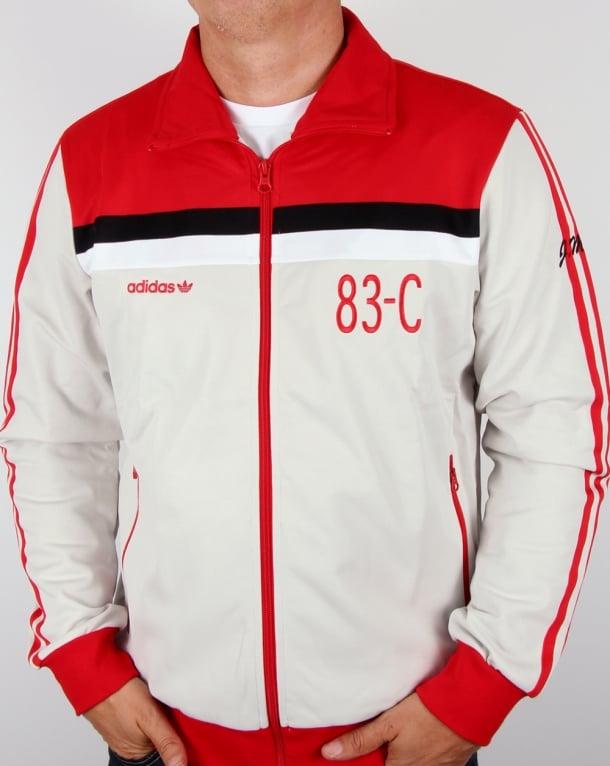 Adidas Originals 83-C Track Top Talc/Red