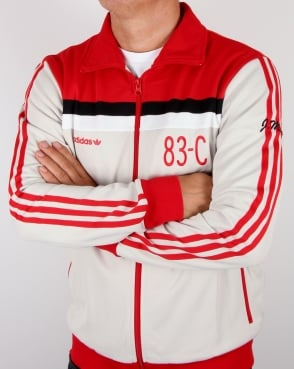 Adidas Originals 83-C Track Top Talc/Red
