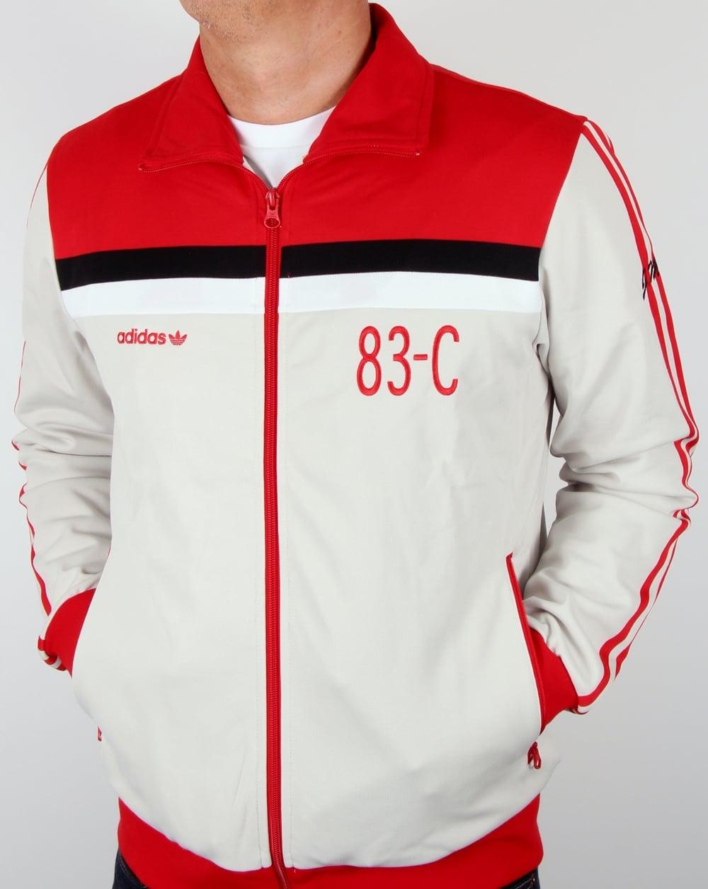 adidas 83 c. adidas originals 83-c track top talc/red 83 c 2