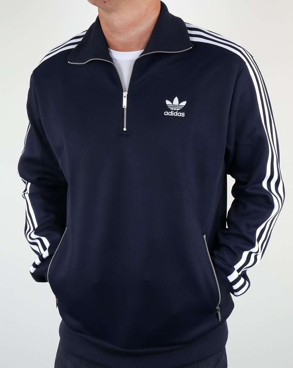 adidas quarter zip. adidas originals 90s half zip track top navy quarter i