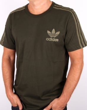 Adidas Originals Adicolor 3 Stripe T-shirt Night Cargo