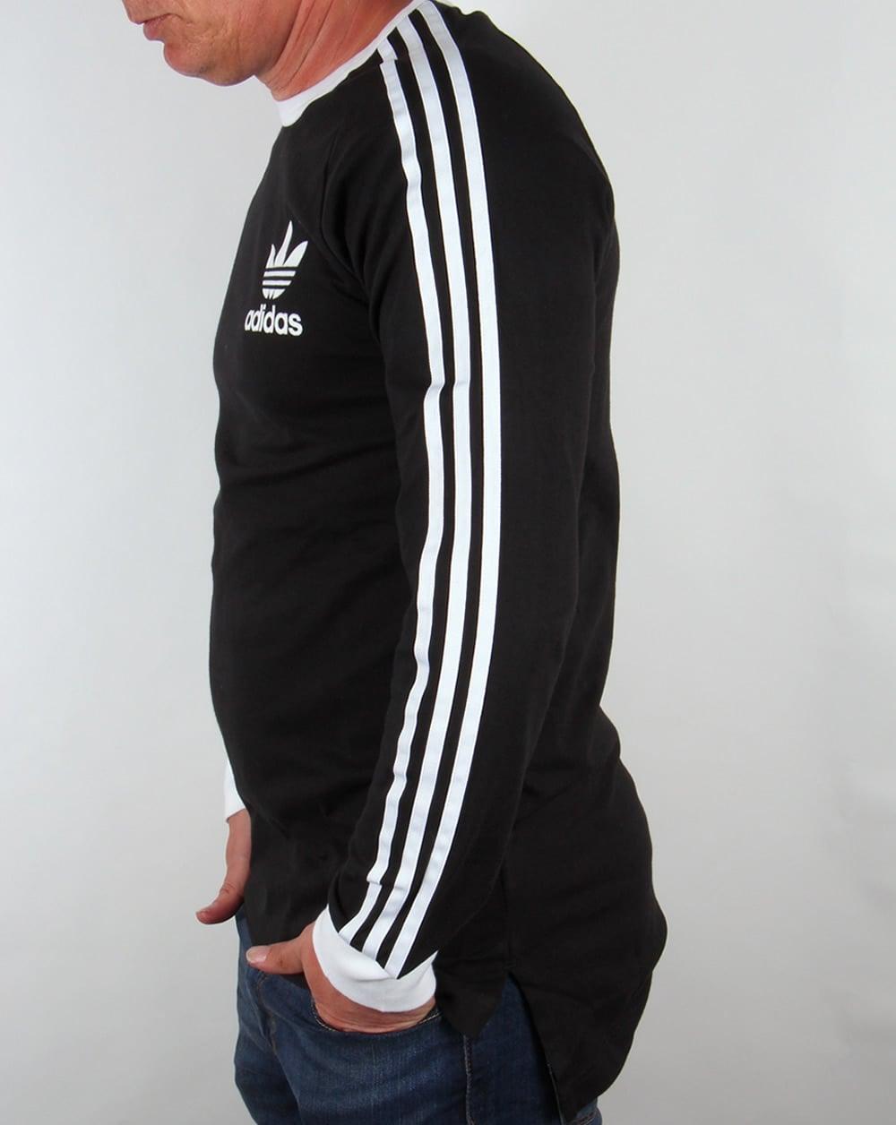 bc3487681 Adidas Originals Adicolour Long Sleeve T-shirt Black/White - T ...