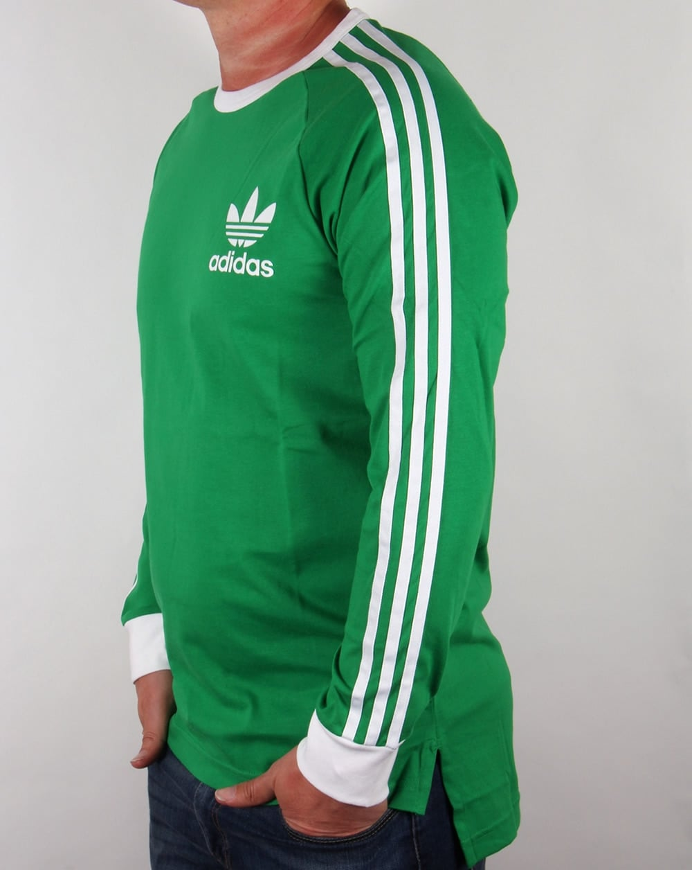 adidas originals adicolour long sleeve t shirt green white. Black Bedroom Furniture Sets. Home Design Ideas