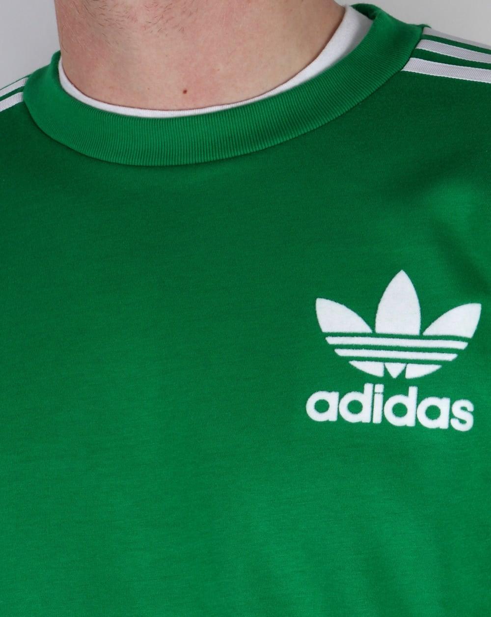 Adicolour Sweatshirt Greenwhite Originals Originals Adidas Adidas Adicolour HIEWD29