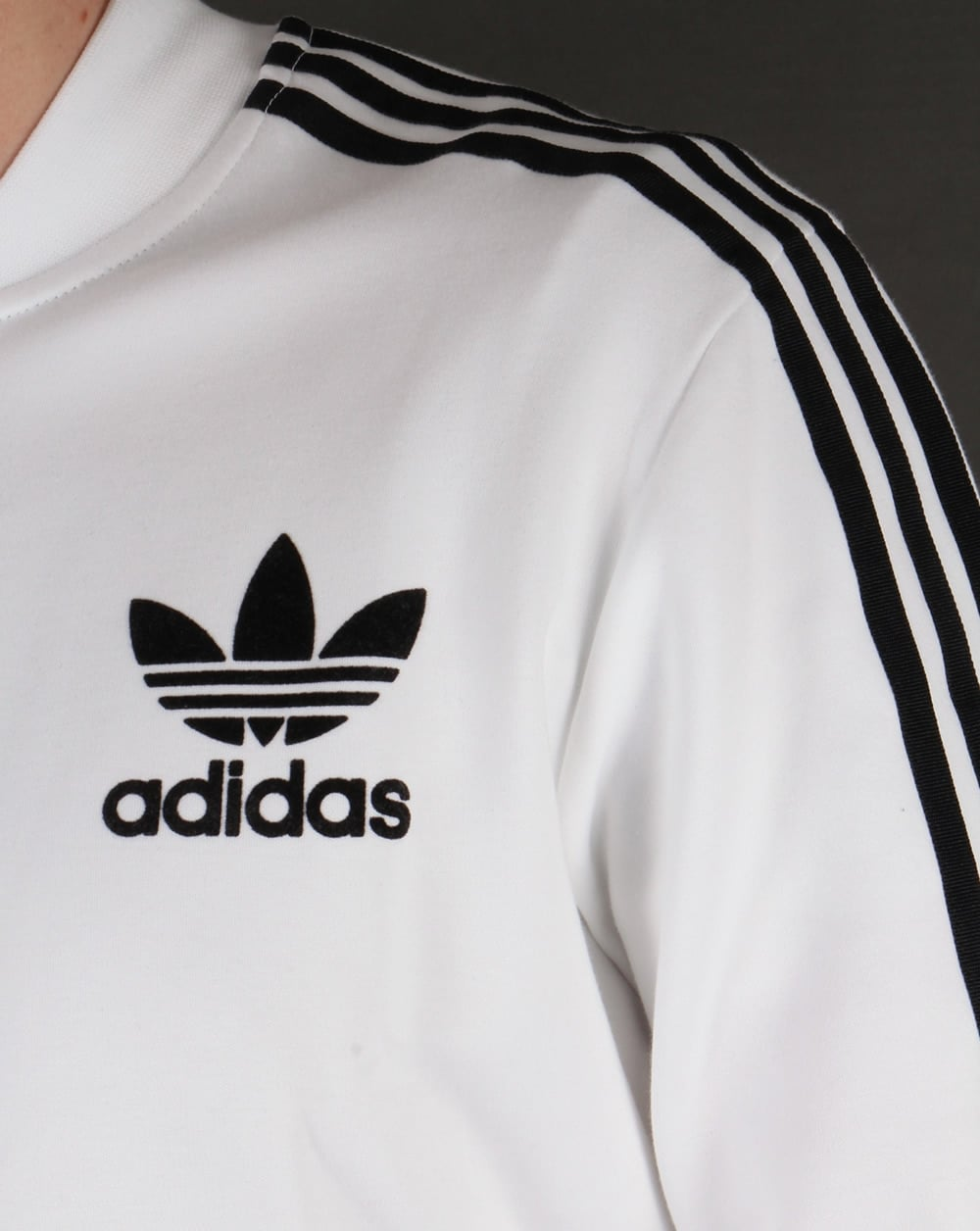 adidas originals adicolour track top white black adidas. Black Bedroom Furniture Sets. Home Design Ideas