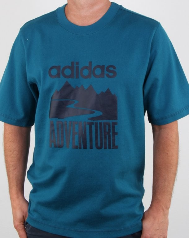 Adidas Originals Adventure T Shirt Real Teal
