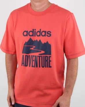 Adidas Originals Adventure T Shirt Trace Scarlet