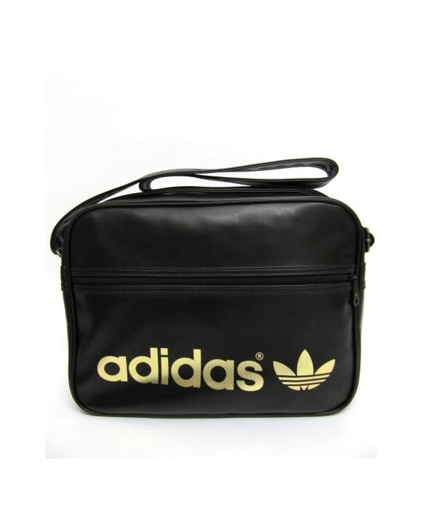 Adidas Originals Airline Shoulder Bag Black Gold Adidas Originals