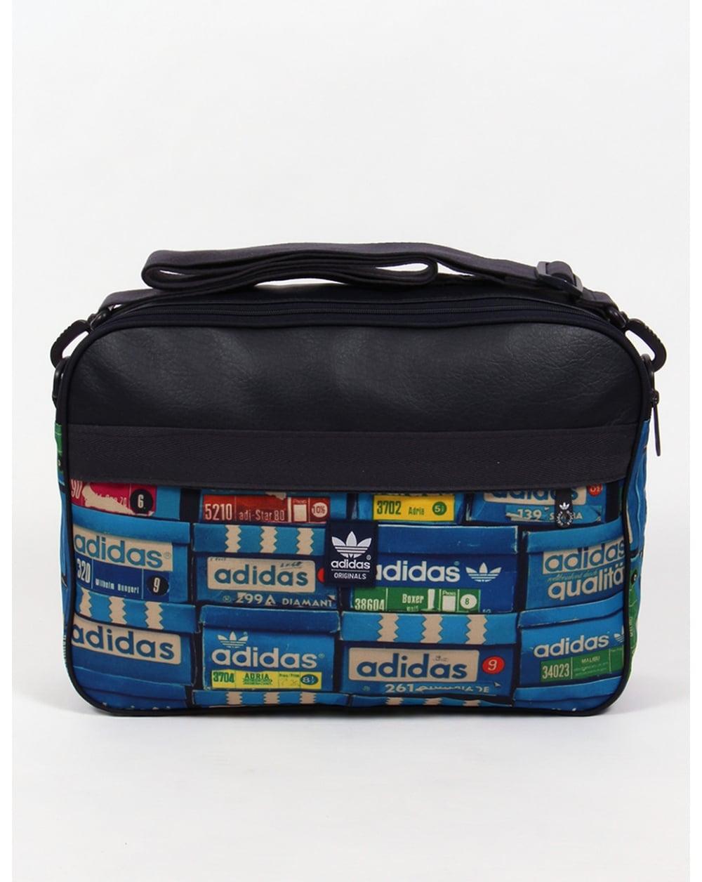 Adidas Originals Airliner Shoebox Print Bag Navy Shoulder Holdall