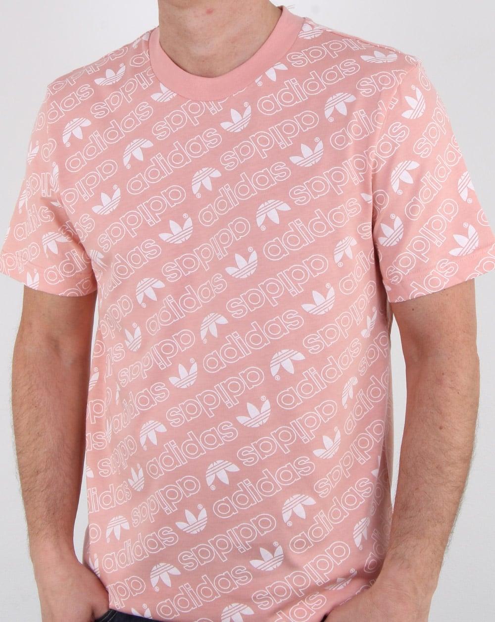 b94658fa5132 Adidas Originals Aop T Shirt Dust Pink, Mens, Tee, Cotton, Crew Neck