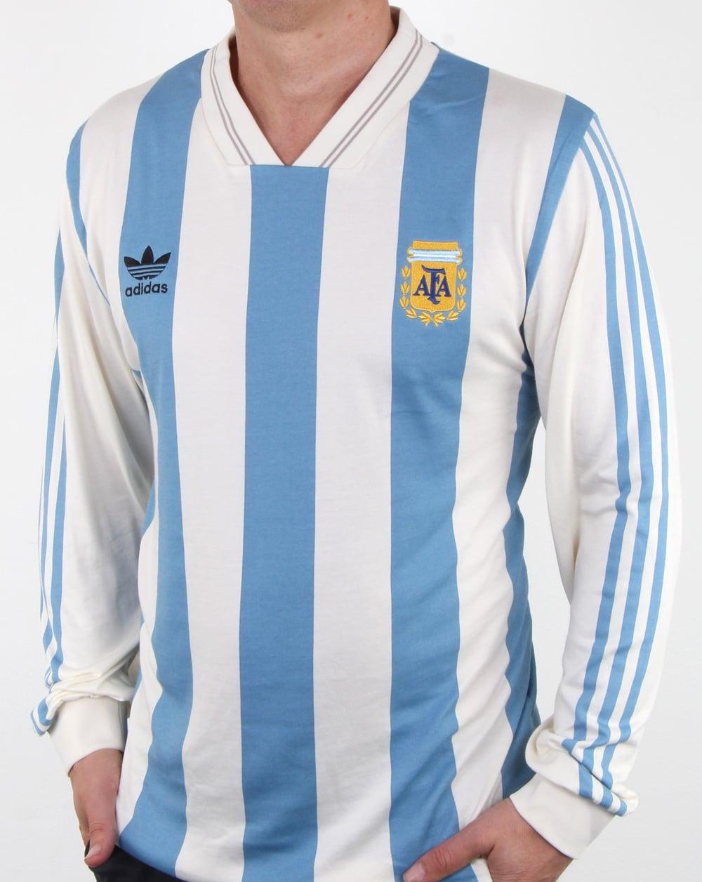 Adidas Originals Argentina Jersey White Blue Mens Footballworld Cup Fashion Big Size T Shirt World 2xl
