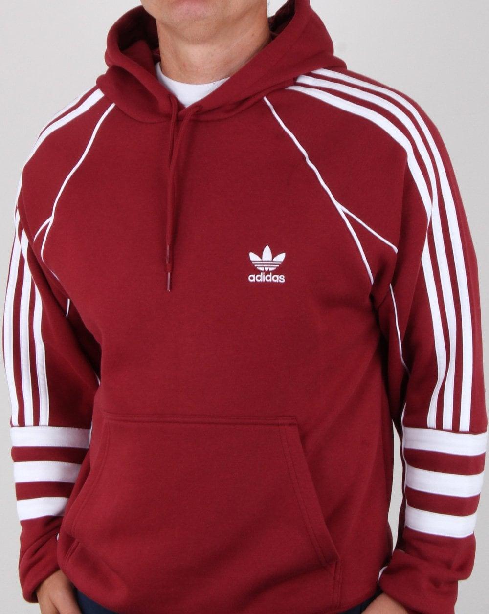 adidas Originals Adidas Originals Authentics Hoody Maroon 46f8cb6476e