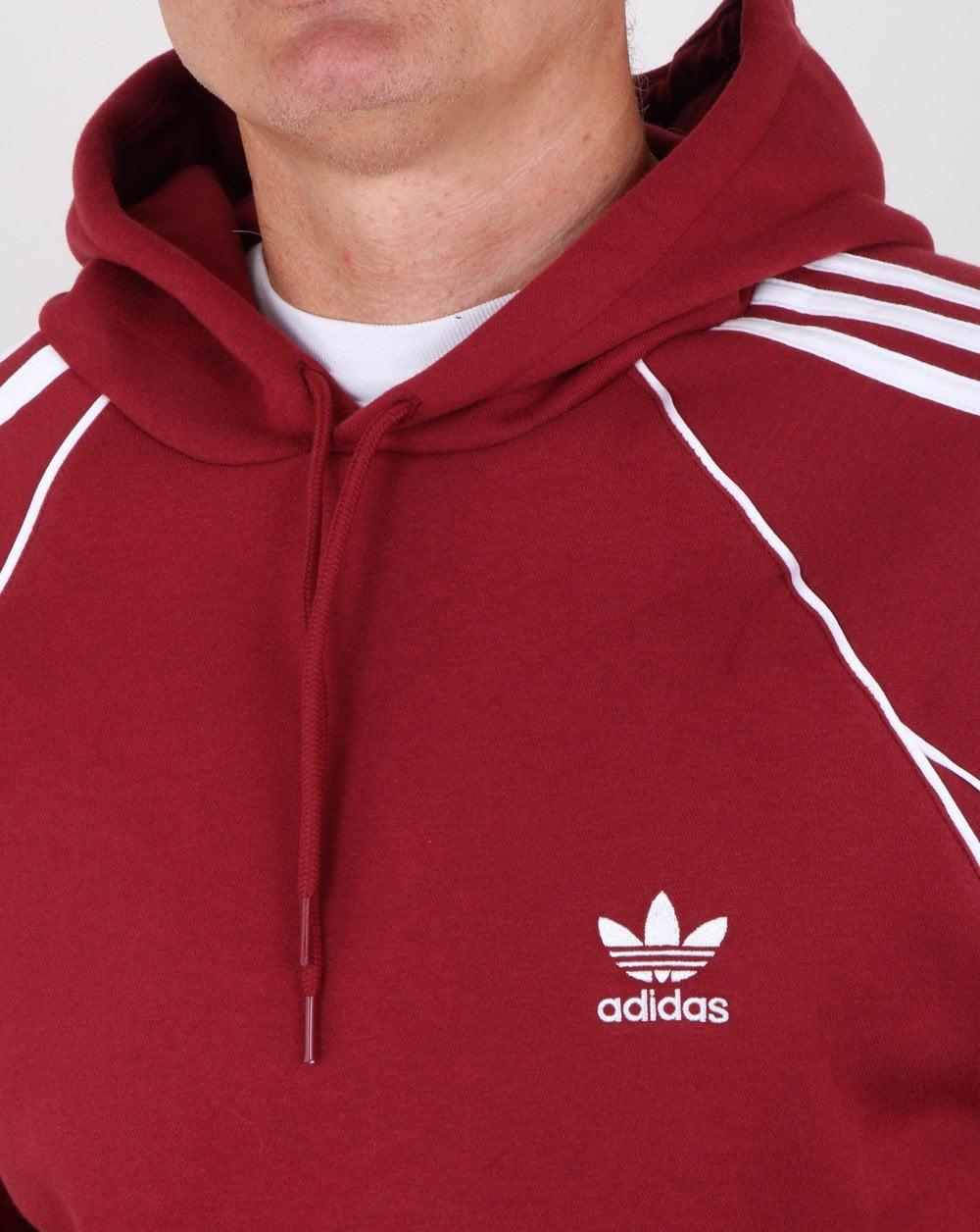 Adidas Originals Authentics Hoody Maroon 4ef9bc80235