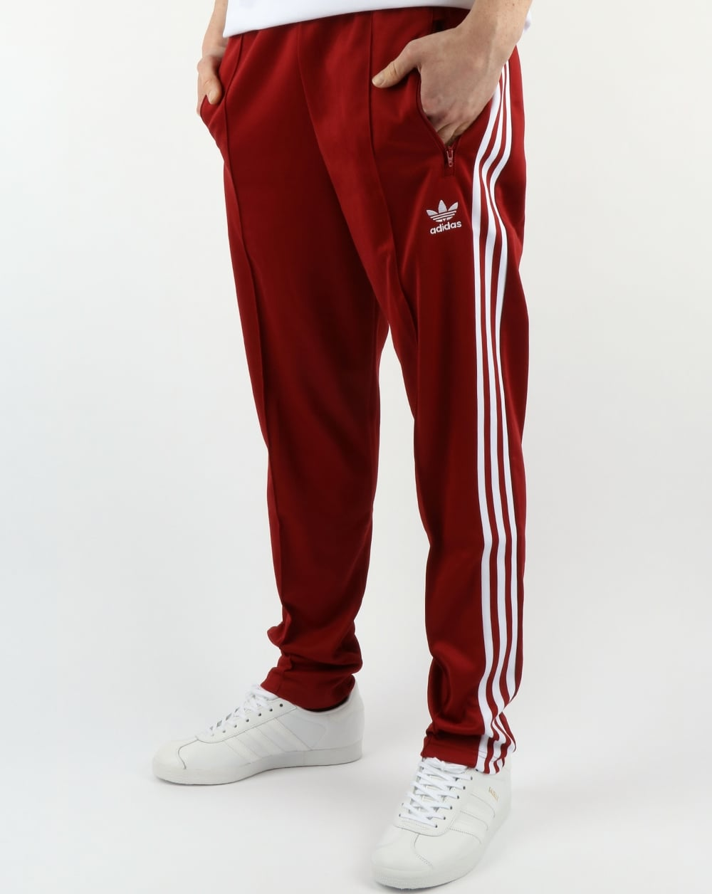 adidas superstar red with jeans