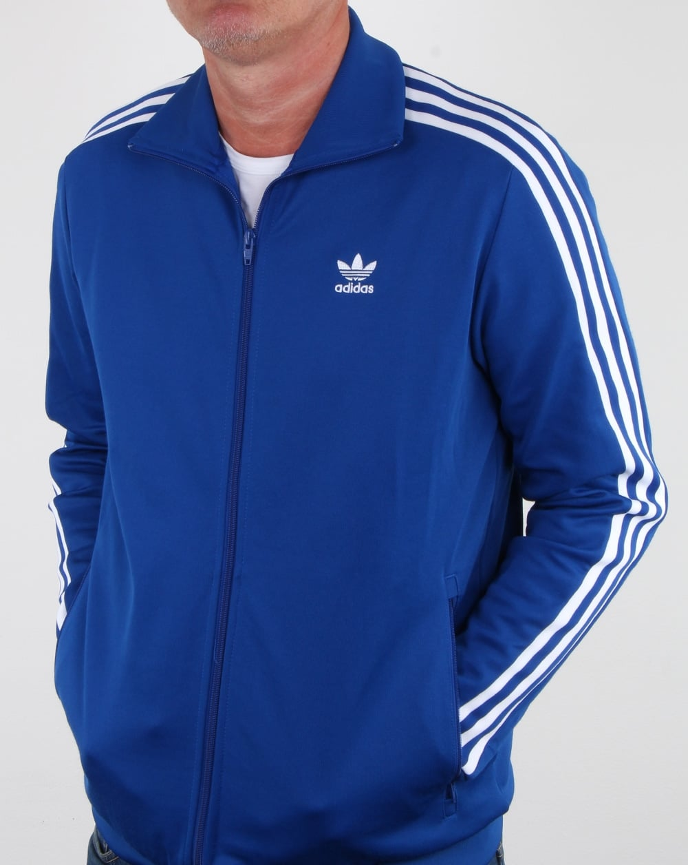 famous brand authorized site running shoes Adidas Beckenbauer Tracktop Jacke collegiate royal