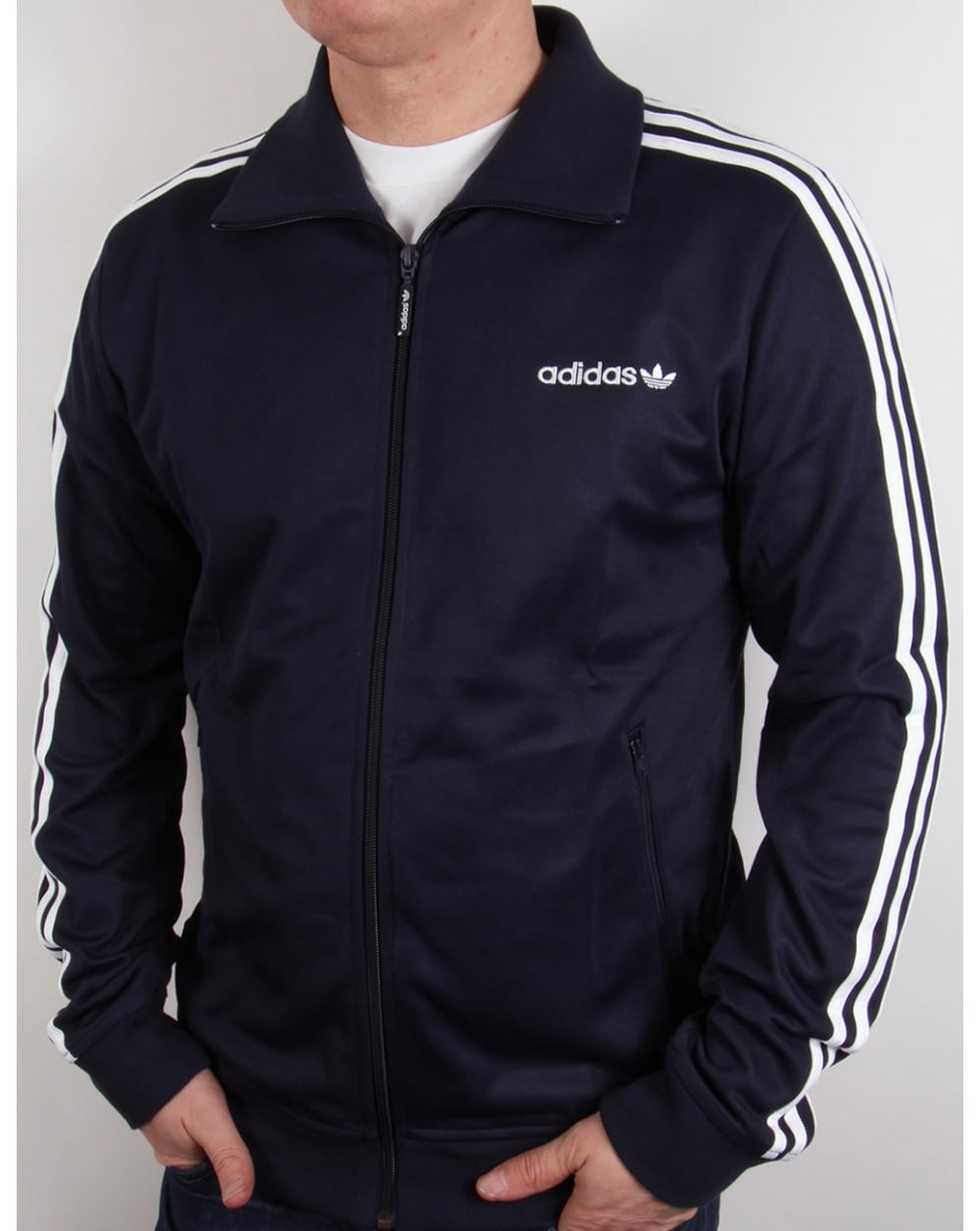 adidas originals beckenbauer track top navy blue white. Black Bedroom Furniture Sets. Home Design Ideas