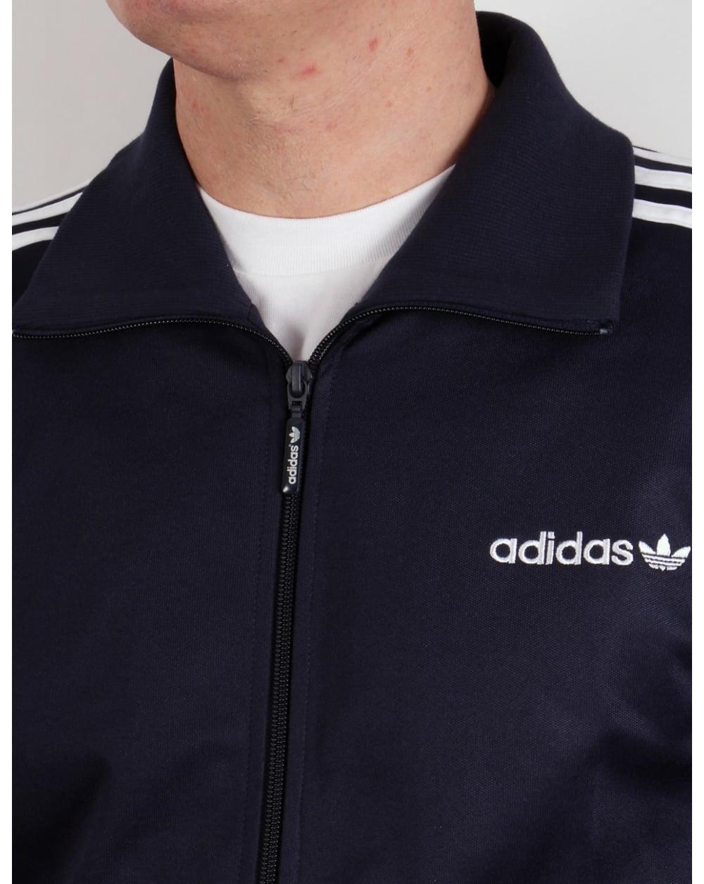 ffcd8350273c Adidas Originals Beckenbauer Track Top Navy Blue white - Adidas ...