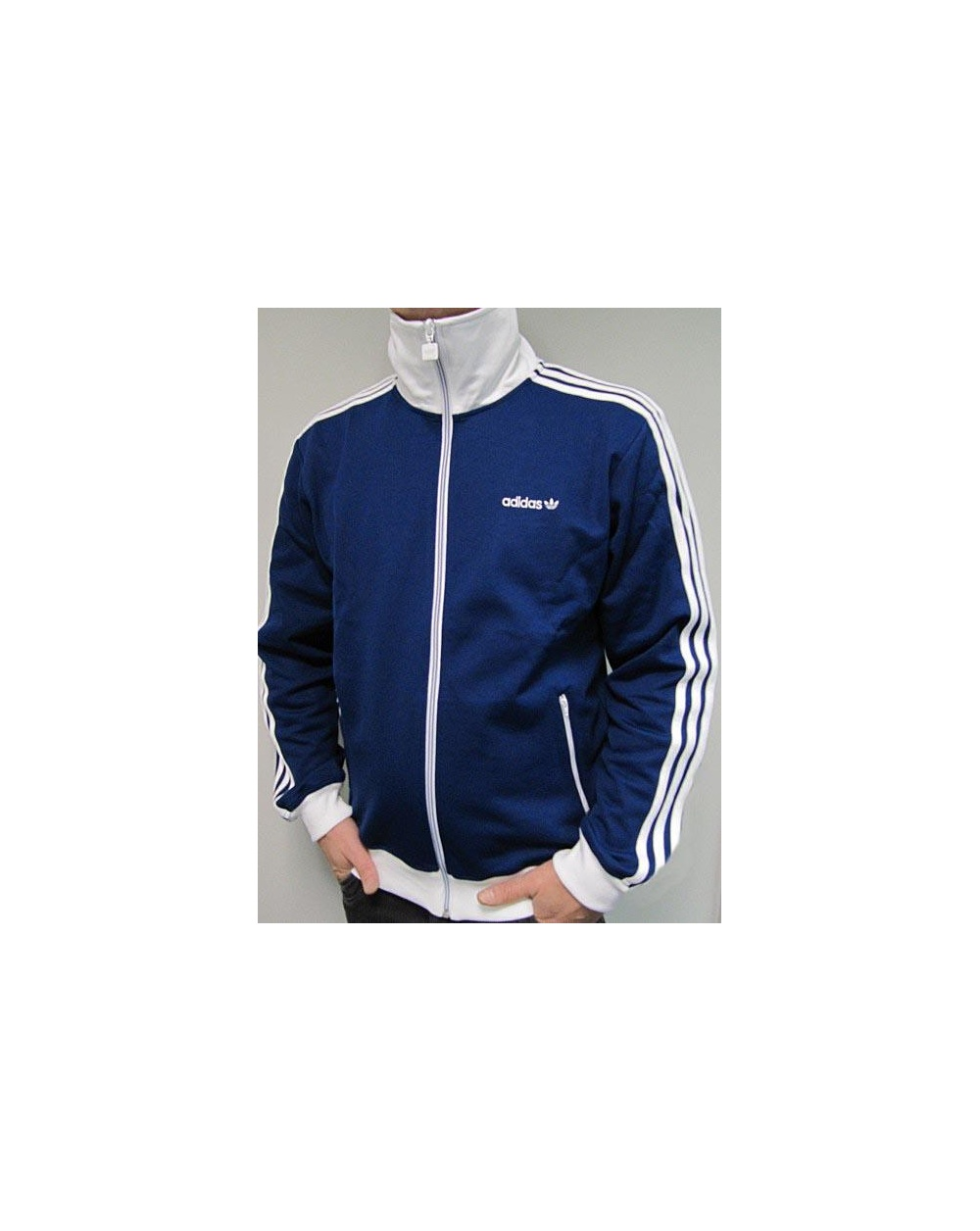 Adidas Originals Beckenbauer Track Top Navy White - Tracksuit Top 9ce9b70e67