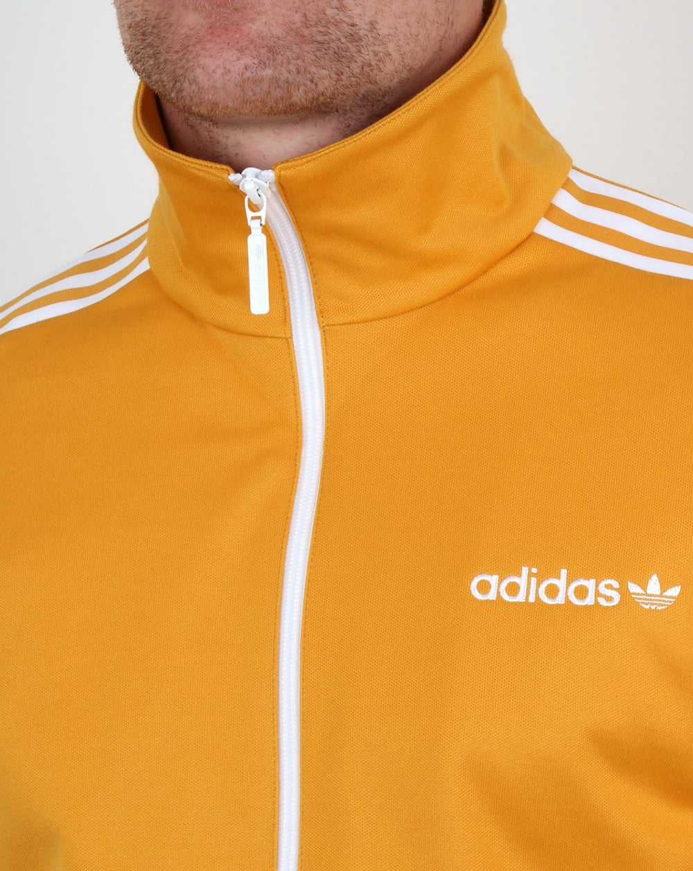 e4a91a67aed4 Adidas Originals Beckenbauer Track Top Old Skool Yellow