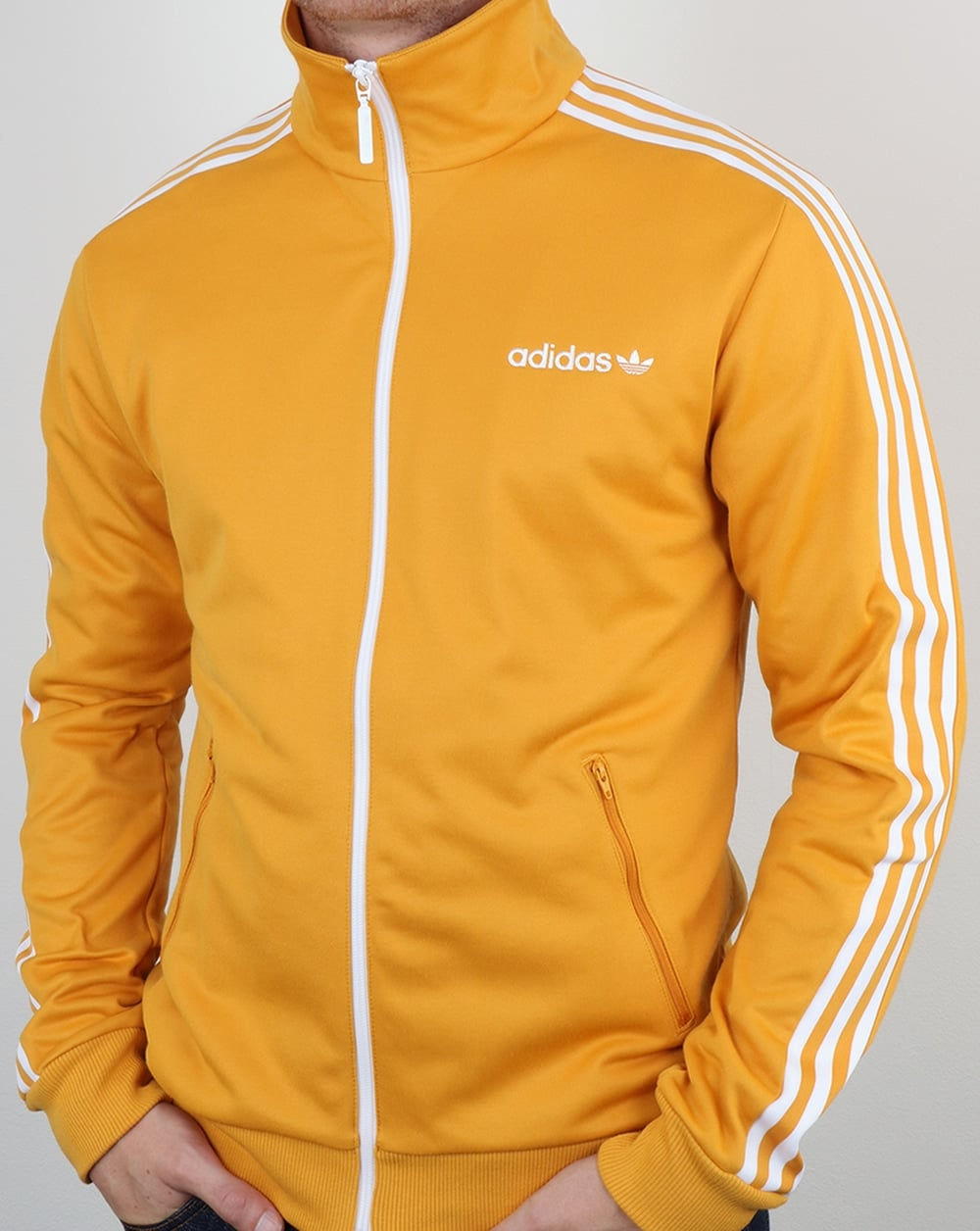 adidas originals beckenbauer track top yellow tracksuit. Black Bedroom Furniture Sets. Home Design Ideas
