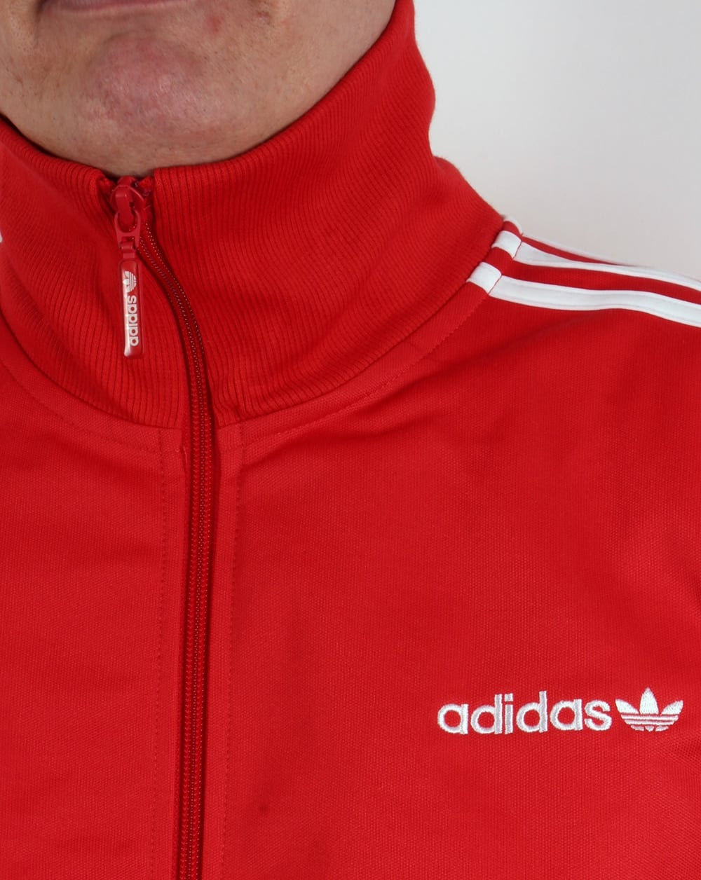 adidas tracksuit red white