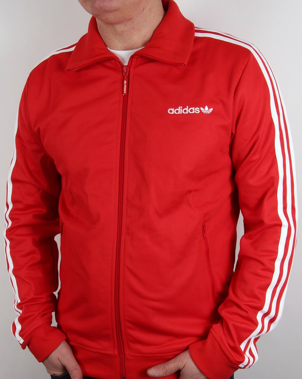 adidas originals beckenbauer track top red white tracksuit. Black Bedroom Furniture Sets. Home Design Ideas