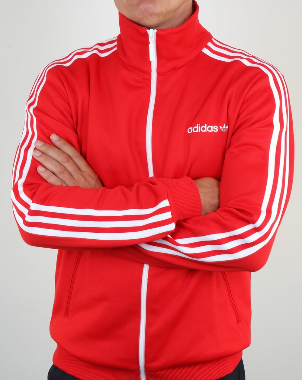 Adidas Beckenbauer Track Top Red Jacket Originals